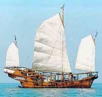 Old asian ships
